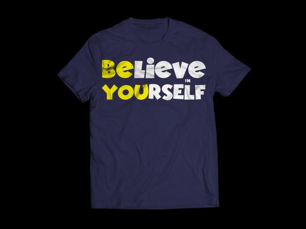Believe in Yourself – Navy Blue